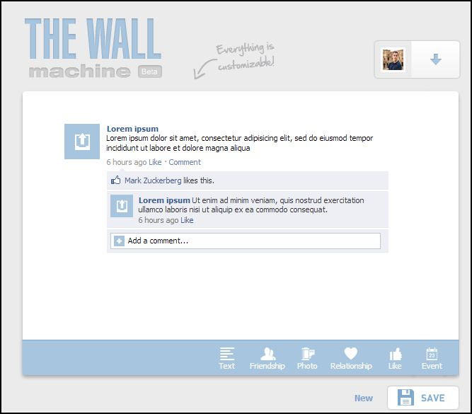The wall machine 1
